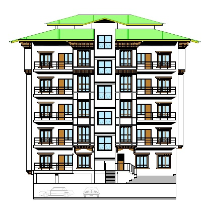 Design of B+G+4 Residential Building at Taba, Thimphu